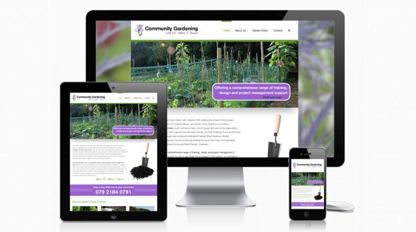 Community Gardening Web Design