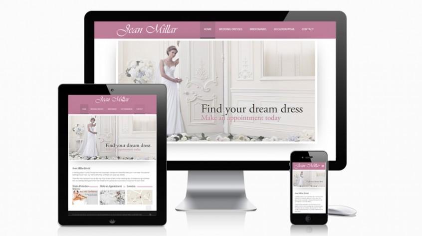 Jean Millar Bridal Website