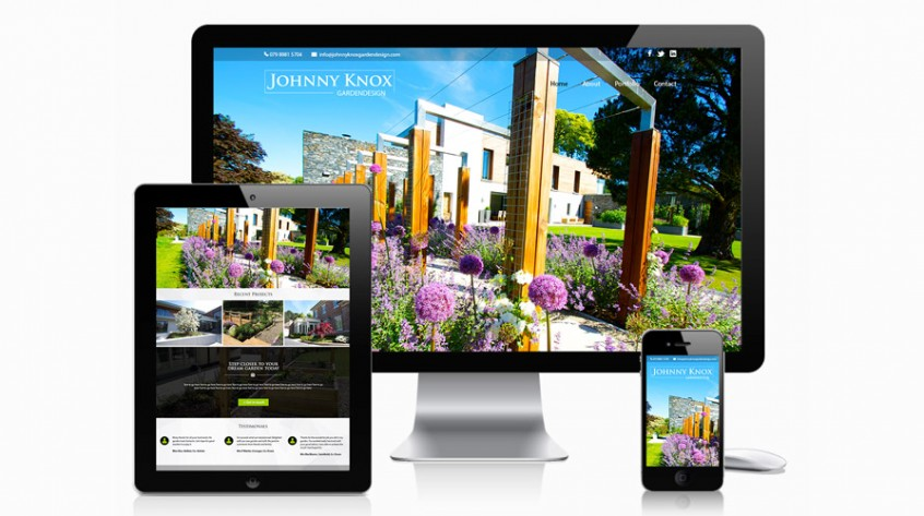 Johnny Knox Garden Design Website