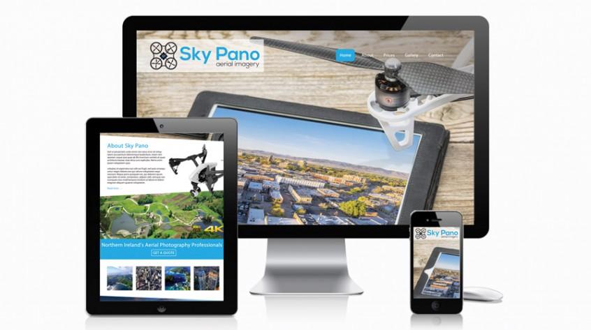 Sky Pano Aerial Imagery Web Design